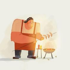 A timelapse video of my recent illustration : The Grill Master  #instagram #illustration #grilled #grilling #illustrator #timelapse #process Retro Illustration, Character Illustration, Digital Illustration, Grill Master, Character Drawing, Illustrator, Grilling, Disney Characters, Fictional Characters
