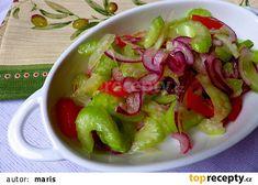 Lehký salát z řapíkatého celeru recept - TopRecepty.cz Lchf, Guacamole, Salsa, Cabbage, Meat, Vegetables, Ethnic Recipes, Food, Essen
