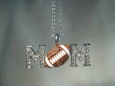 Football MOM Rhinestone Necklace, The Feather Chicks LLC