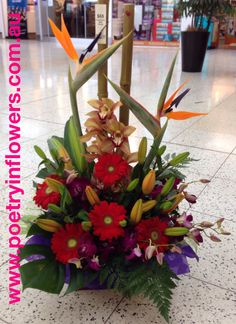 www.poetryinflowers.com.au Silk Floral Arrangements, Artificial Flower Arrangements, Artificial Flowers, Kingdom Hall, Flower Ideas, Floral Designs, Bouquets, Projects To Try, Paradise