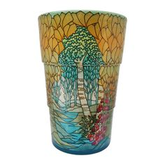 Dennis Chinaworks pottery designed by Sally Tuffin. This Trees design was produced from 2010 until It is a numbered edition limited to Pottery Designs, Tree Designs, Pottery Vase, Trees To Plant, Sally, Shot Glass, Ceramics, Plants