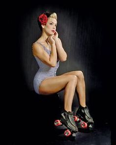 Femina en patines