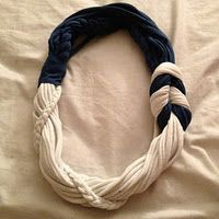 DIY old t-shirt into infinity scarf. :)