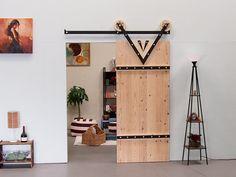 Kit di fienile porta scorrevole Barn Door Hardware.Interior scorrevole Doors.Rolling porta Designs.Rolling fatti a mano