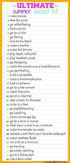 summer bucket list ideas& 35 things to do this summer! summer bucket list ideas& 35 things to do this summer! The post summer bucket list ideas& 35 things to do this summer! appeared first on Pink Unicorn. Summer Goals, Summer Time, Summer Things, Summer Ideas, Summer Nights, Summer Dates, Summer Beach, Fun Things, This Summer