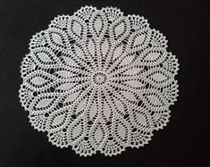 Items similar to Crochet doily - Round doilies - Large doily - Silver with metallic doily - Home decor - Crochet doilies on Etsy Invitations Quinceanera, Knitting Patterns Free, Free Pattern, Diy Invitation, Pineapple Crochet, Thanks A Bunch, Special Words, Crochet Round, Parent Gifts