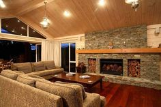Interior design for lockwood homes - House design plans Deck Fireplace, Orange Leaf, Tree Quilt, Eat In Kitchen, Home Design Plans, Autumn Trees, House In The Woods, Beautiful Interiors, Fall Decor