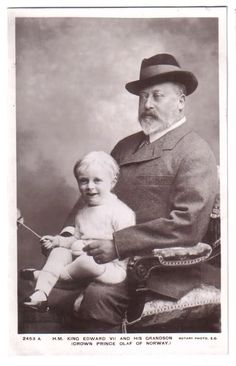 Olav V & his grandfather, H.M King Edward VII of England