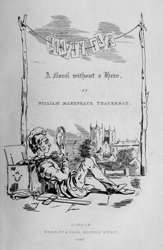 William Makepeace Thackeray illustrated his own novel Vanity Fair