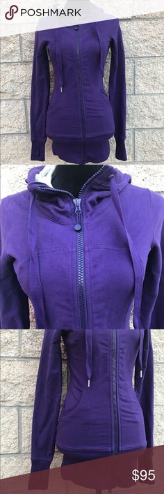 Lululemon Athletica Purple Scuba Hoodie Lululemon Scuba Hoodie full zipped size 4. Chilled grapes color. 95% Cotton 5% Spandex. Good as new item. lululemon athletica Other