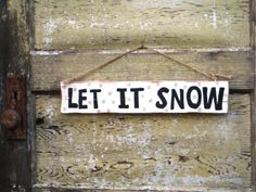 Let It Snow!  on Etsy