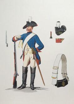 Prussia; Dragoon Regiment Nr.7, c.1750 by Adolph Menzel