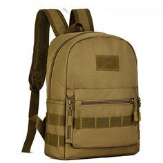Men Nylon Shoulders Backpack Bag Military Hike Trekking Laptop Book Bag Leisure Bag mochila Backpacks #Affiliate