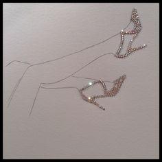 Inspired by Manolo Blahnik #shoes #illustration #fashion #fashionillustration