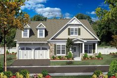 House Plan 80306 | Cottage Craftsman Plan with 2505 Sq. Ft., 3 Bedrooms, 3 Bathrooms, 2 Car Garage
