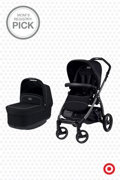 Your precious baby will travel in comfort and style in the Pop Up Stroller from Peg Perego, a Mom's Registry Pick. The easy-fold, smooth-riding stroller features a comfy, folding bassinet for your infant. Plus, it features a reclining, reversible seat and an adjustable-height handle so you can enjoy it for miles and smiles.