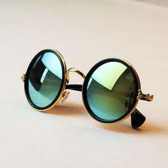 UniSex Fashion retro roundness colours Sunglasses summer 7 colors glasses