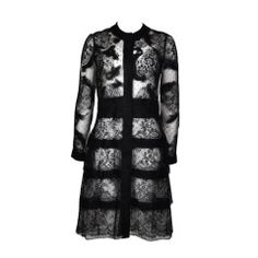 Valentino 2011 F/W Collection Tulle & Black Lace Sheer Coat Dress