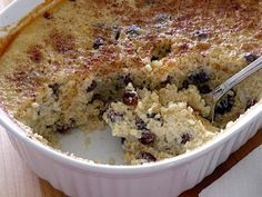 Baked Quinoa Pudding with Raisins  .....This baked quinoa pudding will satisfy your cravings for something warm and comforting without treading into refined sugar and white flour territory.