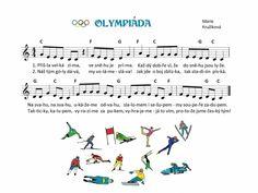 Kids Songs, Winter Sports, Music Notes, Sporty, Sheet Music, Kindergarten, Musica, Winter Olympics, Nursery Songs