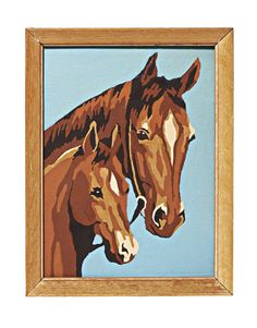 vintage paint-by-number Horses ~ still easy to find ~ display several on a wall