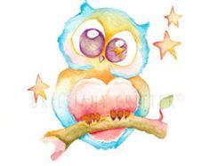 Owl Always Love You Art Print Owl Nursery Art by ClaresPrintables