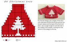 Glitz at the Ritz pattern by Helen Stewart Knitting Charts, Knitting Stitches, Baby Knitting, Knitting Patterns, Crochet Patterns, Crochet Ideas, Knit Christmas Ornaments, Christmas Knitting, Christmas Sweaters
