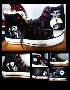 The Nightmare Before Christmas Converse by ~KIRA009 on deviantART