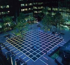 Lys i mørket, det skal være trygt også når det er mørkt!  Broadgate   Maurice Brill lighting design