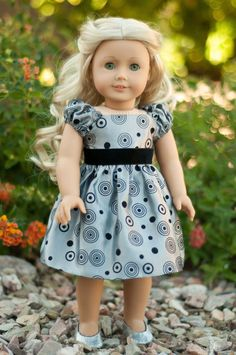 Doll Clothes: Party - Christmas Dress for an American Girl Doll or Other 18 Inch Doll. $22.50, via Etsy.