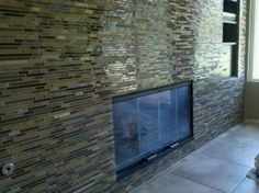 Epic Tile~ Idea for fireplace downstairs.