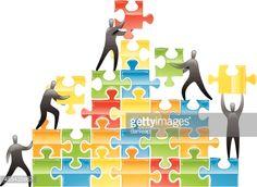 Vector Art : Teamwork Jigsaw Pyramid