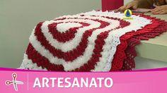 Vida com Arte | Tapete Colméia em crochê por Maria José - 25 de Agosto d...