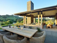Hawkes Bay, New Zealand - country - Patio - Other Metro - Cottonwood Interiors New Zealand Country, Havelock North, Country Patio, Luxury Homes Exterior, Outdoor Living, Outdoor Decor, Outdoor Tables, Outdoor Furniture, Atrium