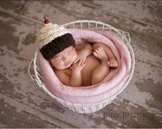 Free Cupcake knitting patterns including baby cupcake hat.  Maybe I need to learn to knit?!?!?
