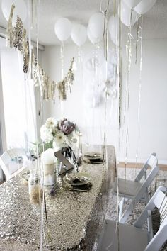 /melanieleslie/ A GLITTER PARTY! i.e. pissing glitter. Wouldn't it be funny if this was your permanent dining set up?
