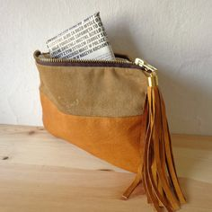 Natural leather purse $49.00