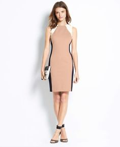 Colorblock Ponte Sheath Dress