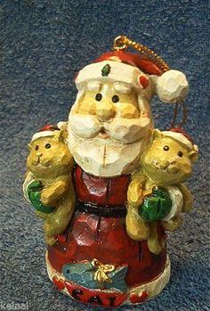Santa w Cats Kitties Kittens Christmas Ornament or Ornamental Display | eBay