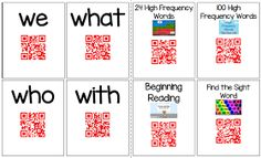 Kindergarten: Holding Hands and Sticking Together: QR Codes for Sight Words