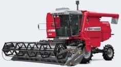 Colheitadeiras Tangenciais  Massey Ferguson - Colheitadeira Mf 5650 SR - Para aumentar a eficiência da colheita de arroz irrigado, a Massey Ferguson desenvolveu a MF 5650 SR com sistema de separação por rotores