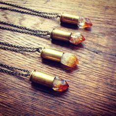 Citrine Bullet Necklace by LovelyMusings on Etsy, $30.00