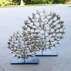 Cosmos Sculpture-Nickel-Lg