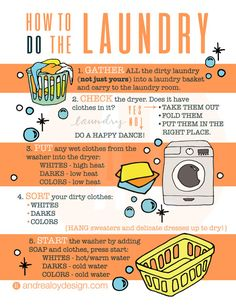 How To Do The Laundry Infographic Printable! I searched high and low for this and could not find a good one for my kids, so here you are! Help your kids do the laundry step by step! Print and hang up for a helpful reminder guide! Your 8x10 printable digital download delivered after payment processed! #laundry Clip art purchased at Pixel Lemonade on Etsy. Cleaning Wood, Household Cleaning Tips, Diy Cleaning Products, Cleaning Solutions, Cleaning Hacks, Zone Cleaning, Cleaning Routines, Cleaning Schedules, Household Chores