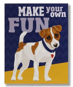 Loving this Jack Russell Wall Sign on #zulily! #zulilyfinds