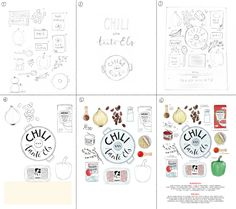 If you order a custom illustrated recipe, you usually only get to see the end result: the finished poster. Let me take you on a little journey behind the scenes. I've documented the process of the latest illustration, so you can see all the steps. I'll give you tips and tricks. Want to give it a try yourself?