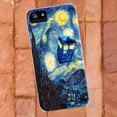 Tardis Doctor Who Starry Night on iPhone 5 Case, iPhone 4 4s Case, samsung s2 case,samsung s3 case. $15.00, via Etsy.