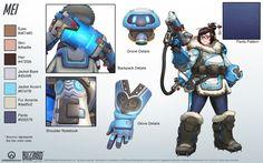 Mei - Overwatch - Close look at model by PlanK-69.deviantart.com on @DeviantArt