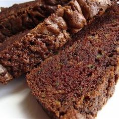 This recipe for Chocolate Zucchini Bread is the BOMB! Sophie and I just made it into muffins that we can't stop eating. They aren't too sweet and are super moist. Yum!