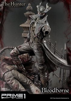 Bloodborne: The Old Hunters The Hunter Statue by Prime 1 Stu Whistler, Bloodborne Figure, Plague Doctor Halloween Costume, X Men, Comic Cover, Triss Merigold, Empire, Witch Tattoo, Wiccan Tattoos